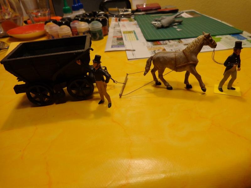 Pferdebahn mit Fischbauchgleis für Kohlenlore 1:32 Dsc01524