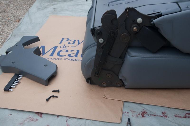Montage d'un Frigo à la place du siège centrale arrière Faut_310
