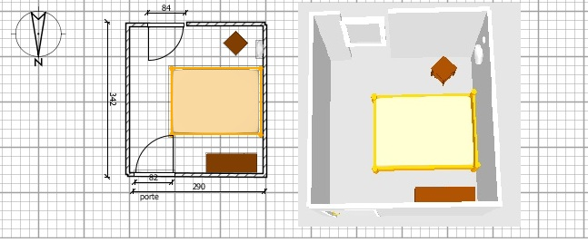"""chambre """"scandinave""""/nature en projet... argent plein ou pas ? Plan_c10"""