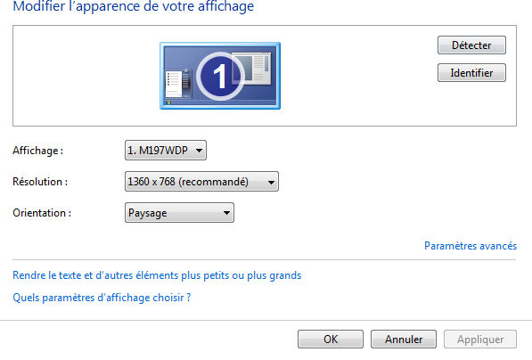 Probleme d'écran pour pc Q110