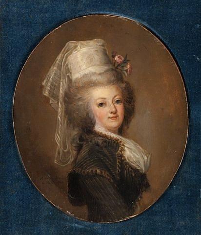 wertmuller - Marie-Antoinette en habit de chasse, ou chemise blanche, par Wertmüller (1788) 31d92910