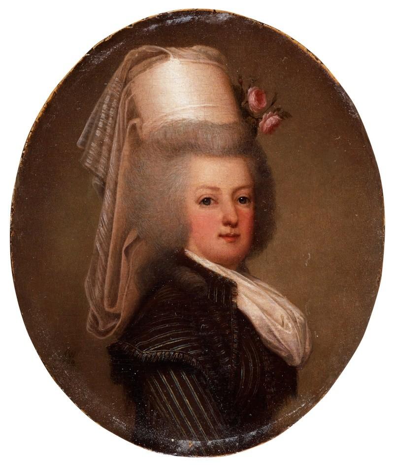 wertmuller - Marie-Antoinette en habit de chasse, ou chemise blanche, par Wertmüller (1788) 86633510