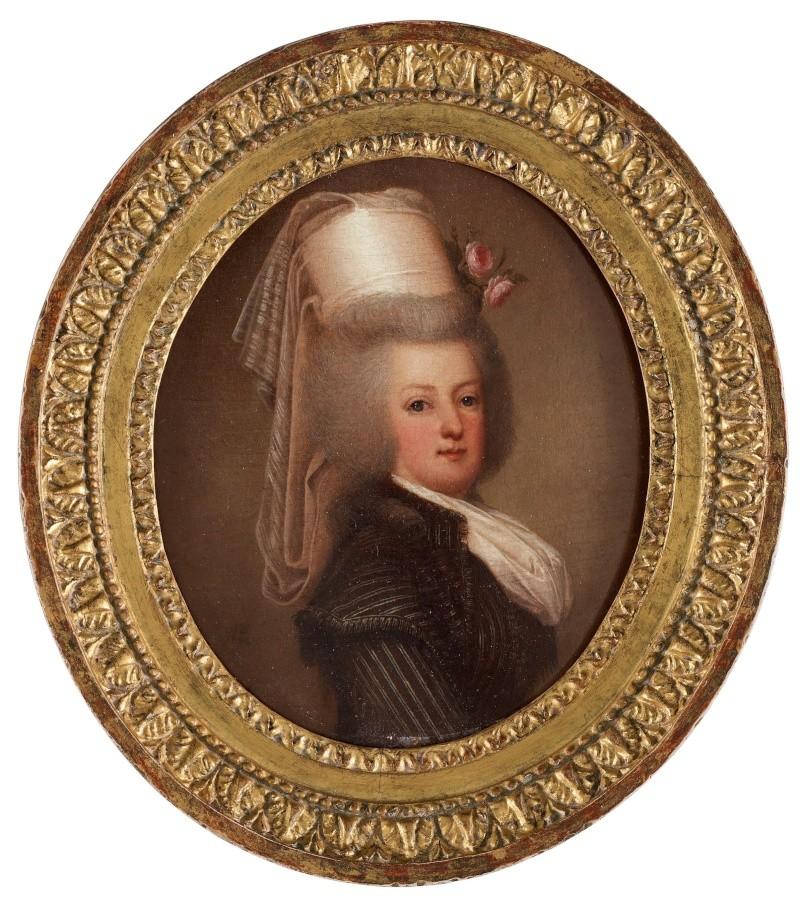 wertmuller - Marie-Antoinette en habit de chasse, ou chemise blanche, par Wertmüller (1788) 86684810