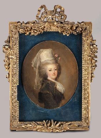 wertmuller - Marie-Antoinette en habit de chasse, ou chemise blanche, par Wertmüller (1788) D1040610