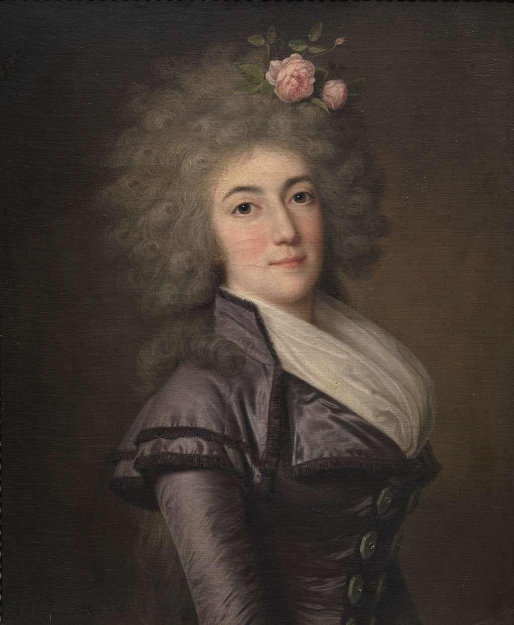 wertmuller - Marie-Antoinette en habit de chasse, ou chemise blanche, par Wertmüller (1788) Doaa_i10