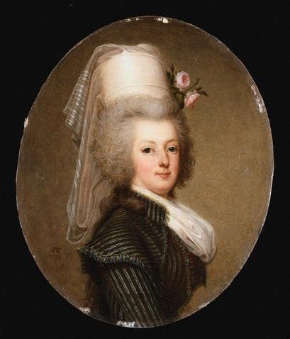 wertmuller - Marie-Antoinette en habit de chasse, ou chemise blanche, par Wertmüller (1788) Marie_10