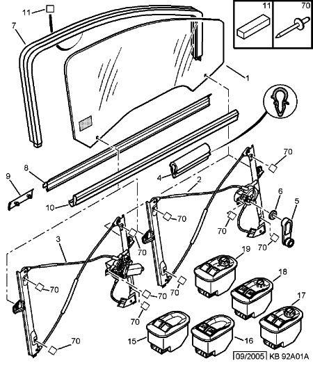 Problème vitre électrique passager 00002411