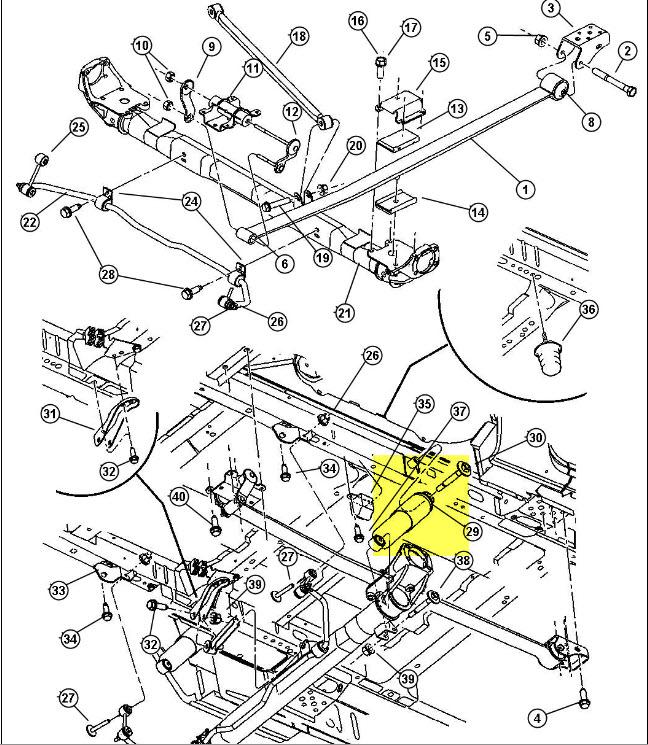 Recherche schéma suspension arrière du Dodge Caravan 2002 2002ca11