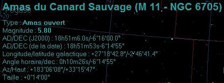 M11 Amas du canard sauvage et M 25 Donnye10