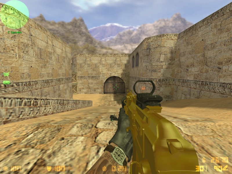 Call Of Duty MW3 gold camo and attachents De_dus26