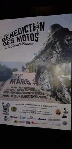 CR - Bénédiction des motos à l'hostellerie de la sainte baume. 20190313