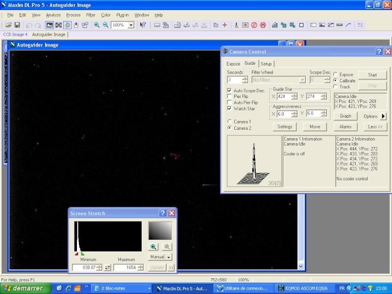 Calibration autoguidage MaximDL ZiGzAG Loguid10