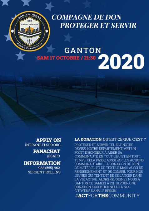 (FLYER) Campagne de don organisée par le SAPD ce Samedi à 21h30 à Ganton Liguef11