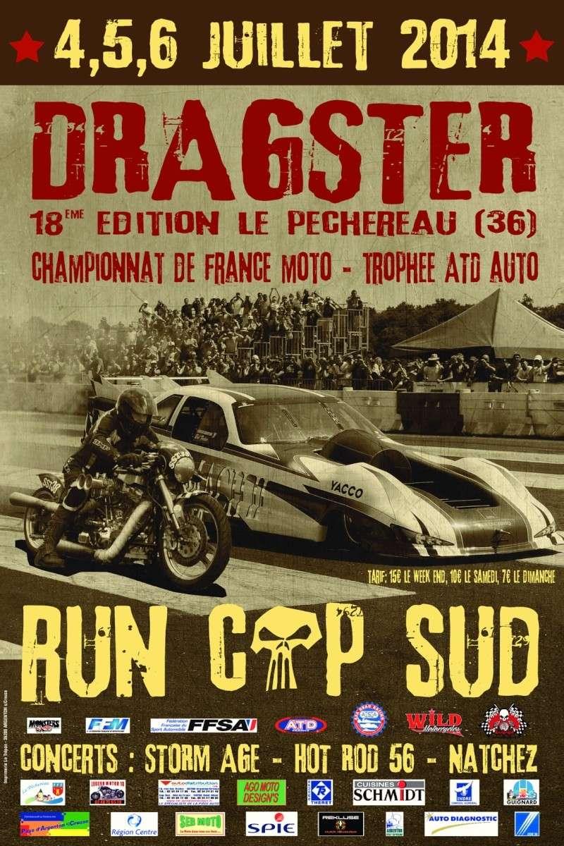 Dragsters au Péchereau (Indre) du 4 au 6 juillet 2014 Affich10