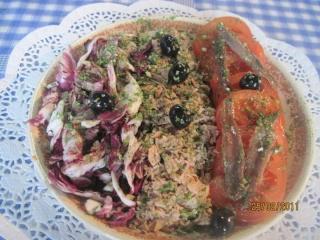 salade d'endives aux tomates & thon.+ photos. Assiet10