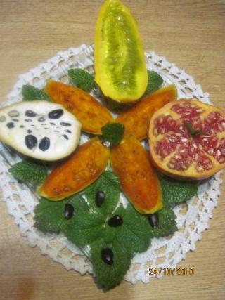 Assiette fraicheur aux fruits exotiques. + photo. Assiet11