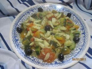 Calamars aux légumes et sauce au vin + photos. Blanc_10