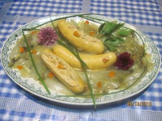 Boudins de saumon aux endives à l'étouffé + photos. Boudin10
