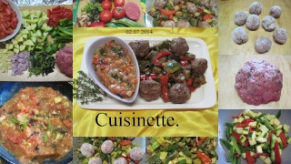 Boulettes de viande au trio de poivrons. + photos. Boulet11