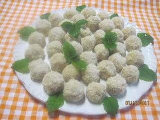 Boulettes de noix de coco. photos. Boulet14