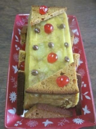 Cake à la pomme et pain d'épice au micro-ondes.+ photos. Cake_l10