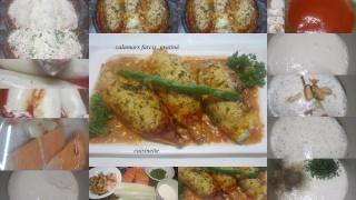 Calamars farcis. gratinés au four + photos. Calama10