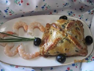Carrés gourmands de saumon et crustacés. + photos. Carres10