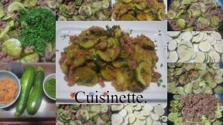 Sauté de rondelles de courgettes viandes hachée. + photos. Confit14