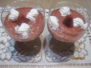 Coupes de compote pommes et fraises + photos. Coupes12