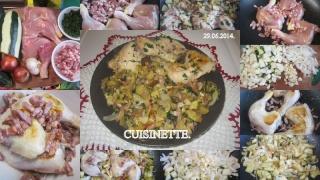 Cuisses de poulet aux cubes de courgettes + photos. Cuisse11