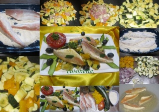Filets de grondin aux cubes de courgettes. + photos. Filets11