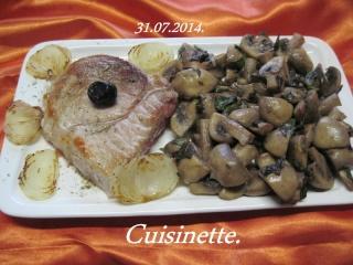 Champignons au beurre basilics + photos. Img_0615