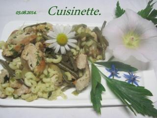 Coquillette aux haricots vert. émincé de poulet. + photos. Img_0618