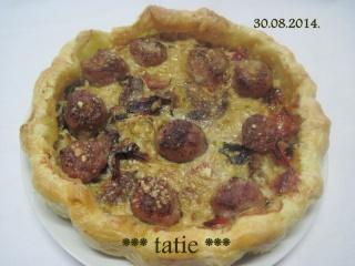 Saucisse de Toulouse et sa tarte de légumes du soleil.photos. Img_1612