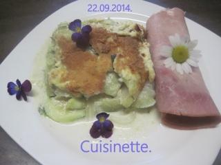 Gratin de courgettes au parmesan  + photos. Img_2312