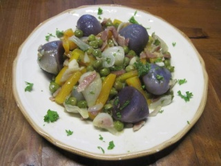 Jardinière de légumes aux pommes de terre vitelottes Jardin10