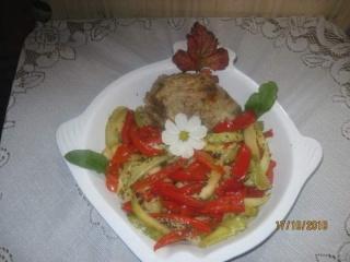 Rôti de veau, courgettes et poivrons + photos. Roti_d10