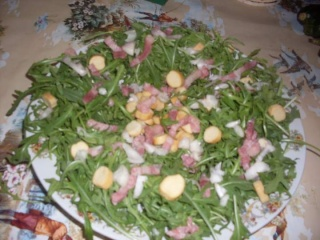 salade de roquette aux lardons + photos. Salade14