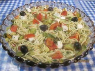 Spaghettis aux légumes de saison et feta + photos. Spaghe12