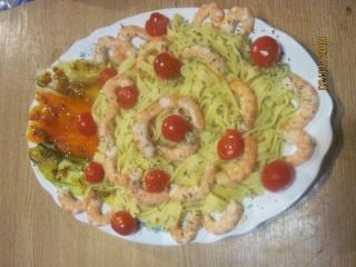 Tagliatelles aux légumes et crevettes + photos. Taglia11