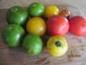 Trois variétés de tomates en salade. + photos. Sauce_12