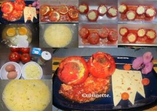 Tomates farcies aux œufs. + photos. Tomate11