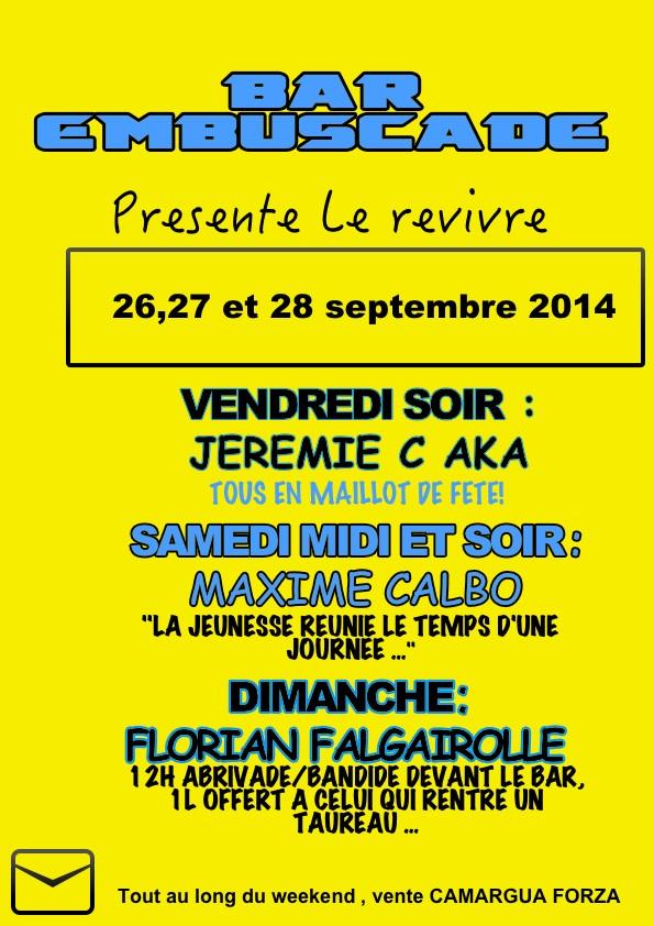 """26 / 27 / 28 Septembre Revivre Vauvert 2014 """" trophée des vignerons """" Prog_e10"""