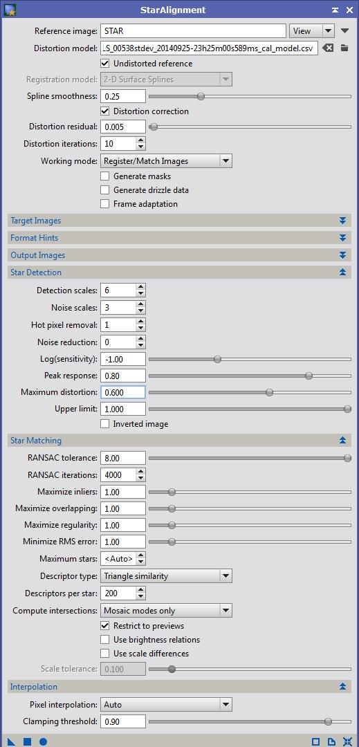 Problème alignement avec correction distortion sur carte Star_a11