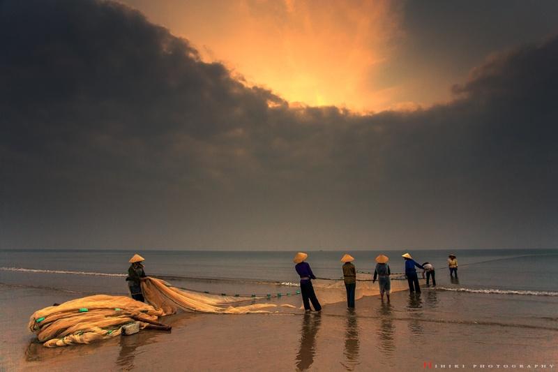 la vie de pêcheur de province Mui Ne - Vietnam Danh_l10