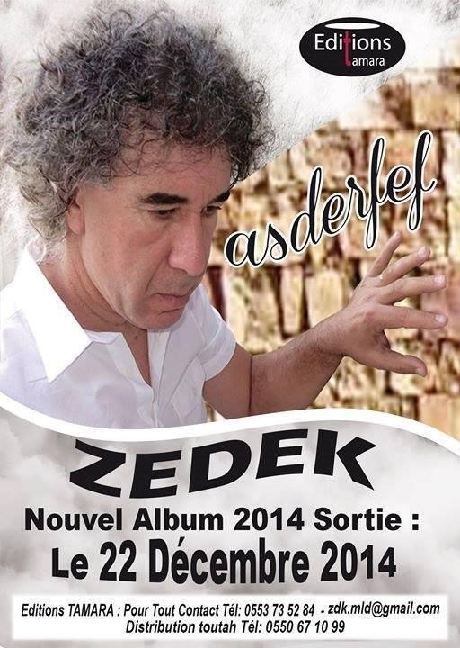 Sortie du nouvel album de ZEDEK Mouloud 2014 Z10