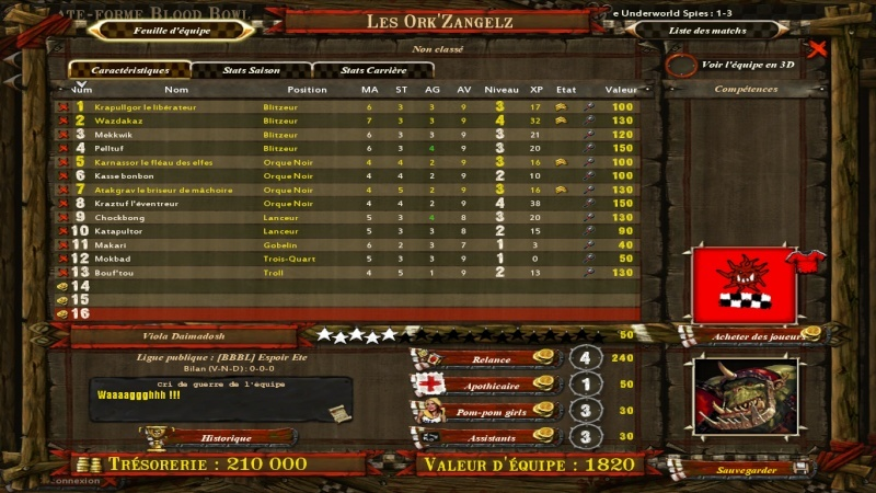 Les Ork'ZangelZ 2-0 CONTUMAX Lvl_up10