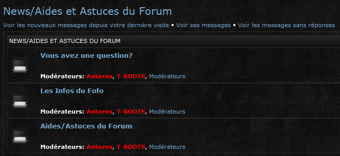 Explication des différentes sections du forum Captur28