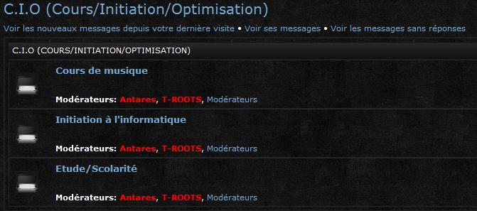 Explication des différentes sections du forum Captur40