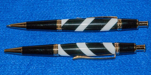 Black and white striped Corian - slimline  Untitl10